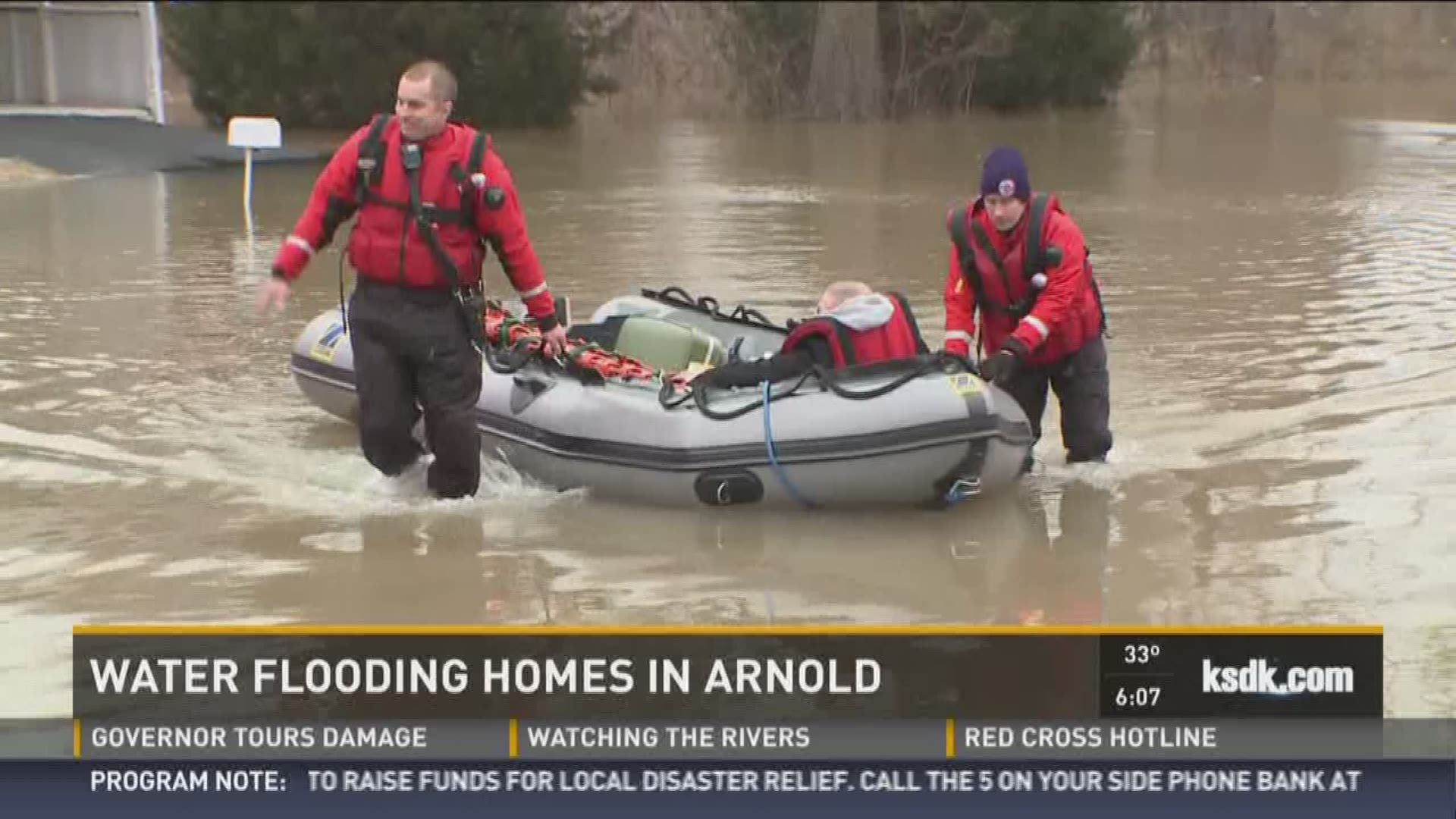 Crews save man from Arnold home