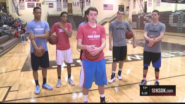 High school all-stars training with Pure Sweat