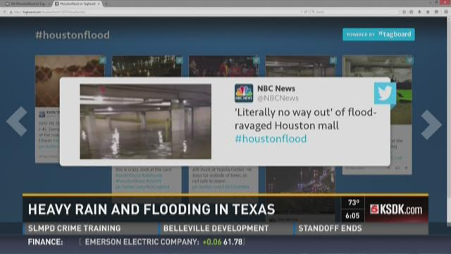 Heavy rain and flooding in Texas