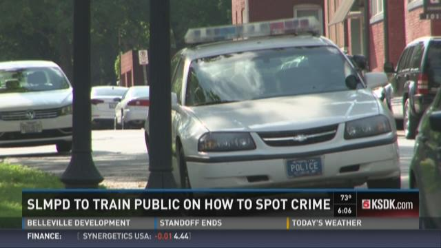 SLMPD to train public on how to spot crime