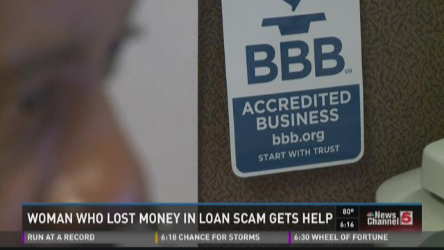 Woman gets help after losing money in loan scam