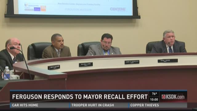 Ferguson responds to Mayor recall effort