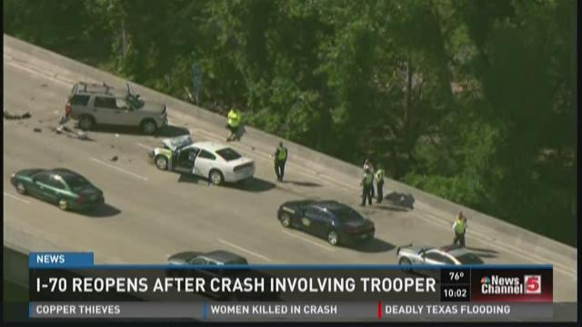 I-70 reopen after crash involving MSHP trooper