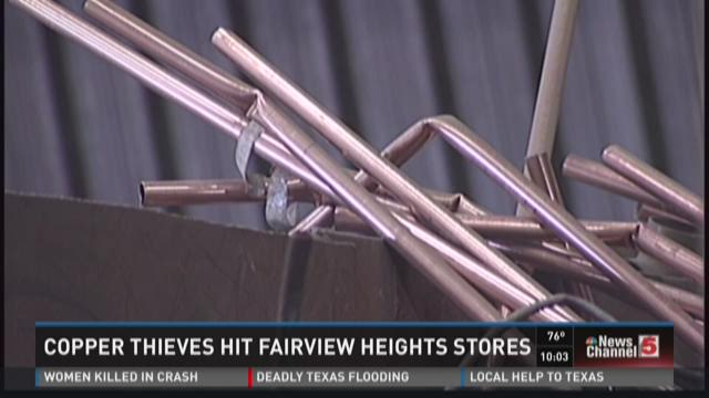 Copper thieves hit Fairview Heights stores