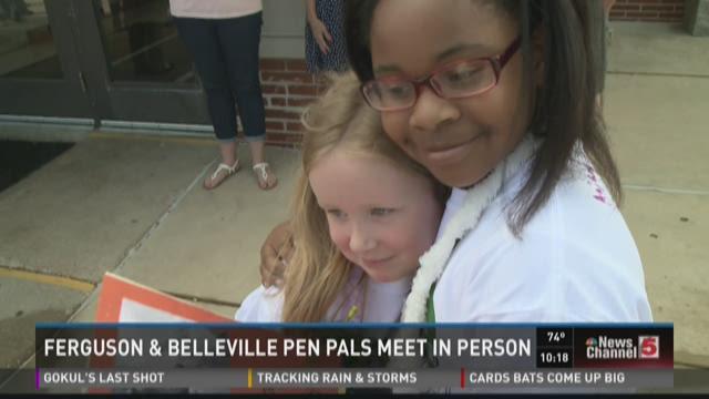 Ferguson and Belleville pen pals meet in person