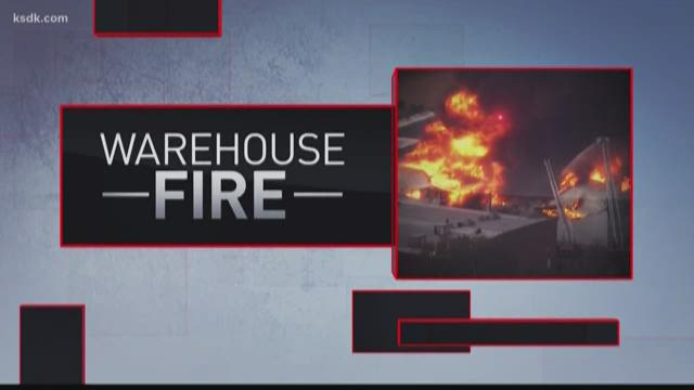 Louis warehouse continues to burn 20 hours later, smoke considered hazardous