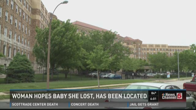 Woman hopes baby she lost has been located