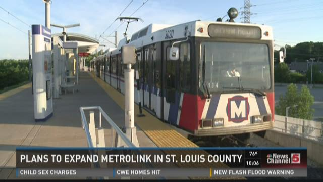Plans to expand Metrolink in St. Louis County