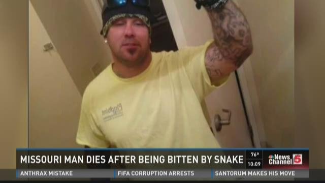 MO man dies after being bitten by snake
