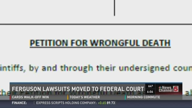 Ferguson lawsuits moved to federal court