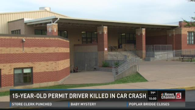 15-year-old permit driver killed in car crash