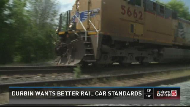 Durbin wants better rail car standards