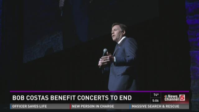Bob Costas benefit concerts to end