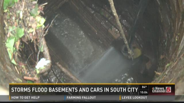 Storms flood basements and cars in South St. Louis