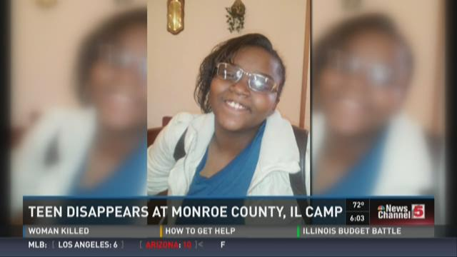 Teen disappears at Monroe County, IL camp