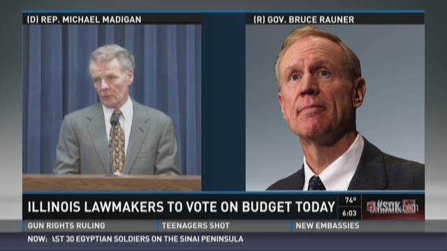 Illinois lawmakers to vote on budget Wednesday