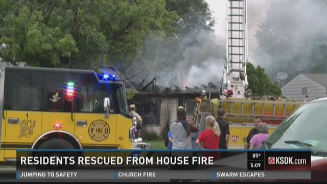 Residents rescued from house fire