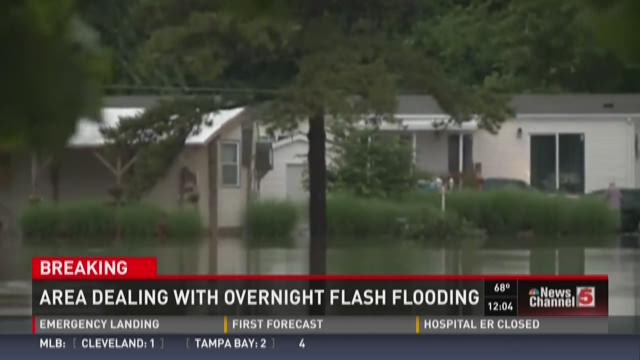 Area dealing with overnight flash flooding