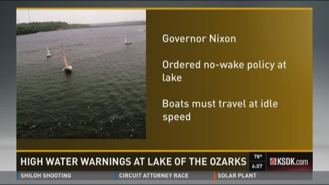 High water warning at Lake of the Ozarks