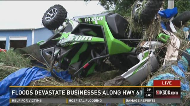 Floods devastate businesses along HWY 61