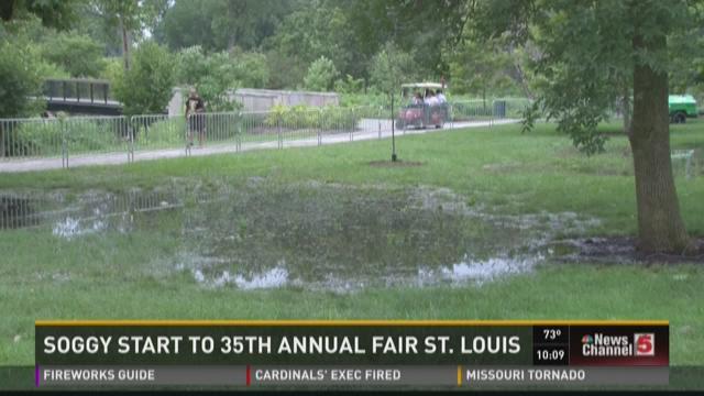 Soggy start to 35th annual Fair St. Louis