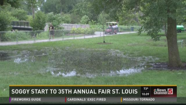 Soggy start to 35th annual Fair St. Louis