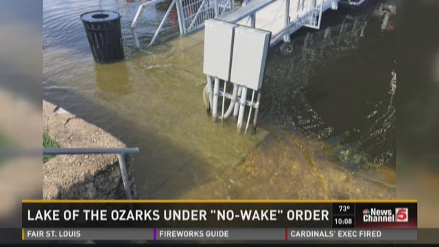 "Lake of the Ozarks under ""no-wake"" order"