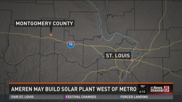 Ameren plans to build solar plant in Missouri