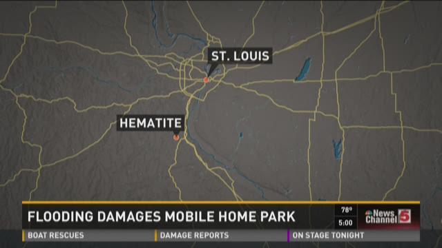 Flooding damages mobile home park
