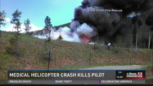 Medical helicopter crash kills pilot