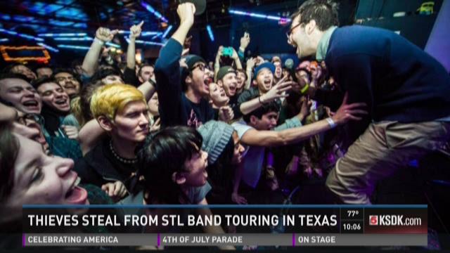 Thieves steal from STL band touring in Texas
