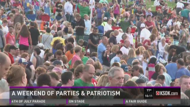 A weekend of parties and patriotism around STL