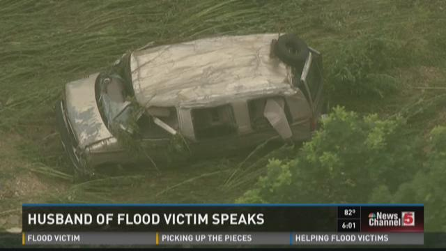 Husband of flood victim speaks