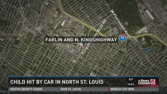 Child hit by car in north St. Louis