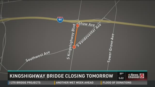 Kingshighway Bridge to close for two years Monday