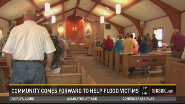 Community comes forward to help flood victims