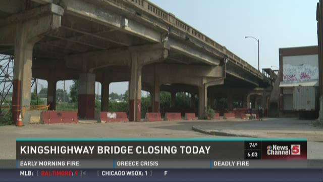 Kingshighway Bridge closing today