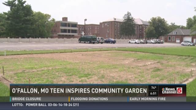 O'Fallon, Mo. teen inspires community garden