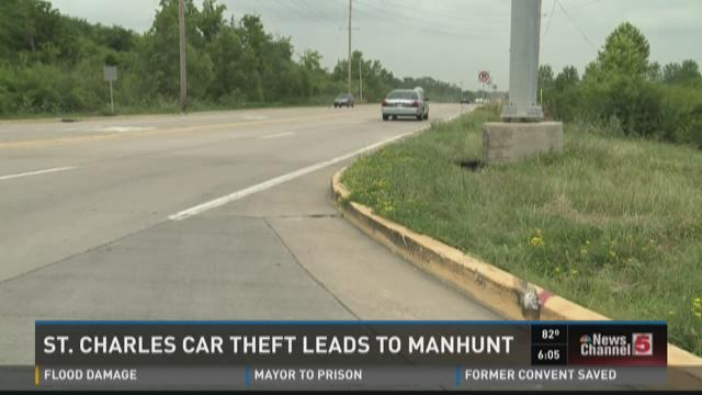 St. Charles car theft leads to manhunt