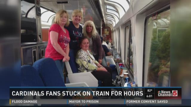 Cardinals fans stuck on train for hours