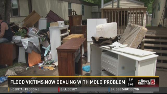 Flood victims now dealing with mold problem