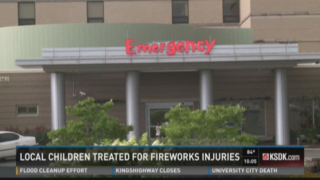 Local children treated for fireworks injuries