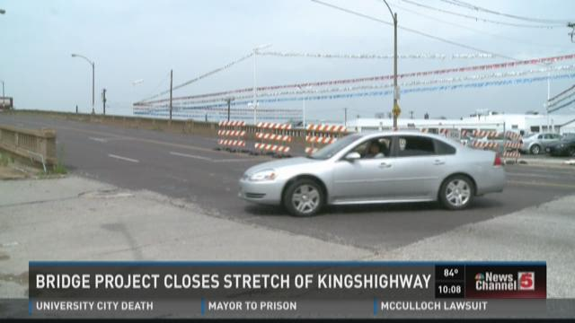 Bridge project closes stretch of Kingshighway