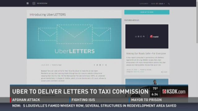 Uber to deliver letters to taxi commission