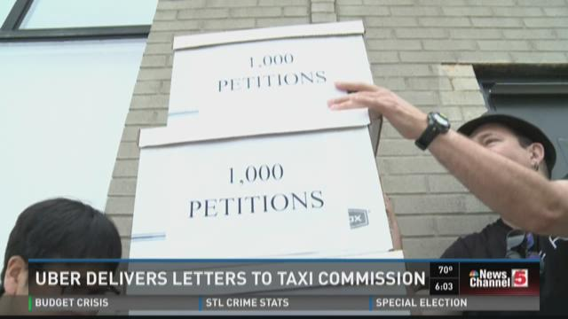 Uber delivers letters to taxi commission
