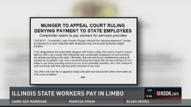 Illinois state workers pay in limbo