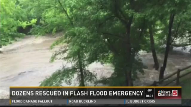Dozens rescued in flash flood emergency