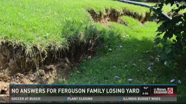 No answers for Ferguson family losing yard