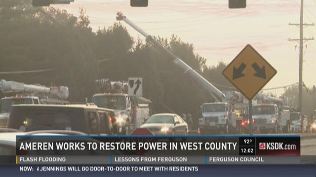 Ameren works to restore power in West County