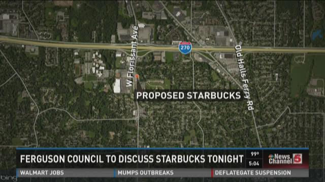Ferguson council to discuss Starbucks tonight